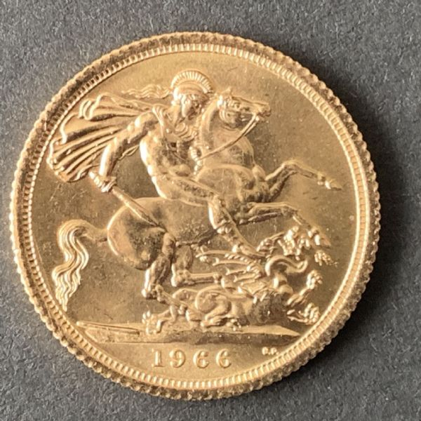 1966 Full Gold sovereign   Uncirculated Condition